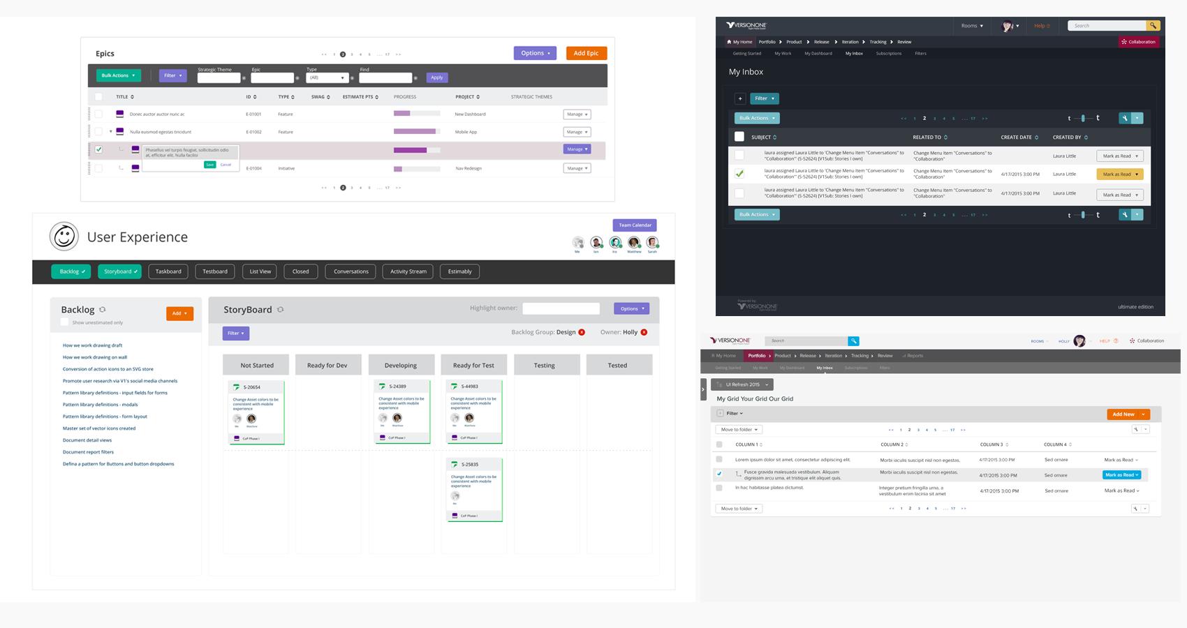 Holly Reynolds - UX and Web Design - Portfolio - UI Refresh Grids